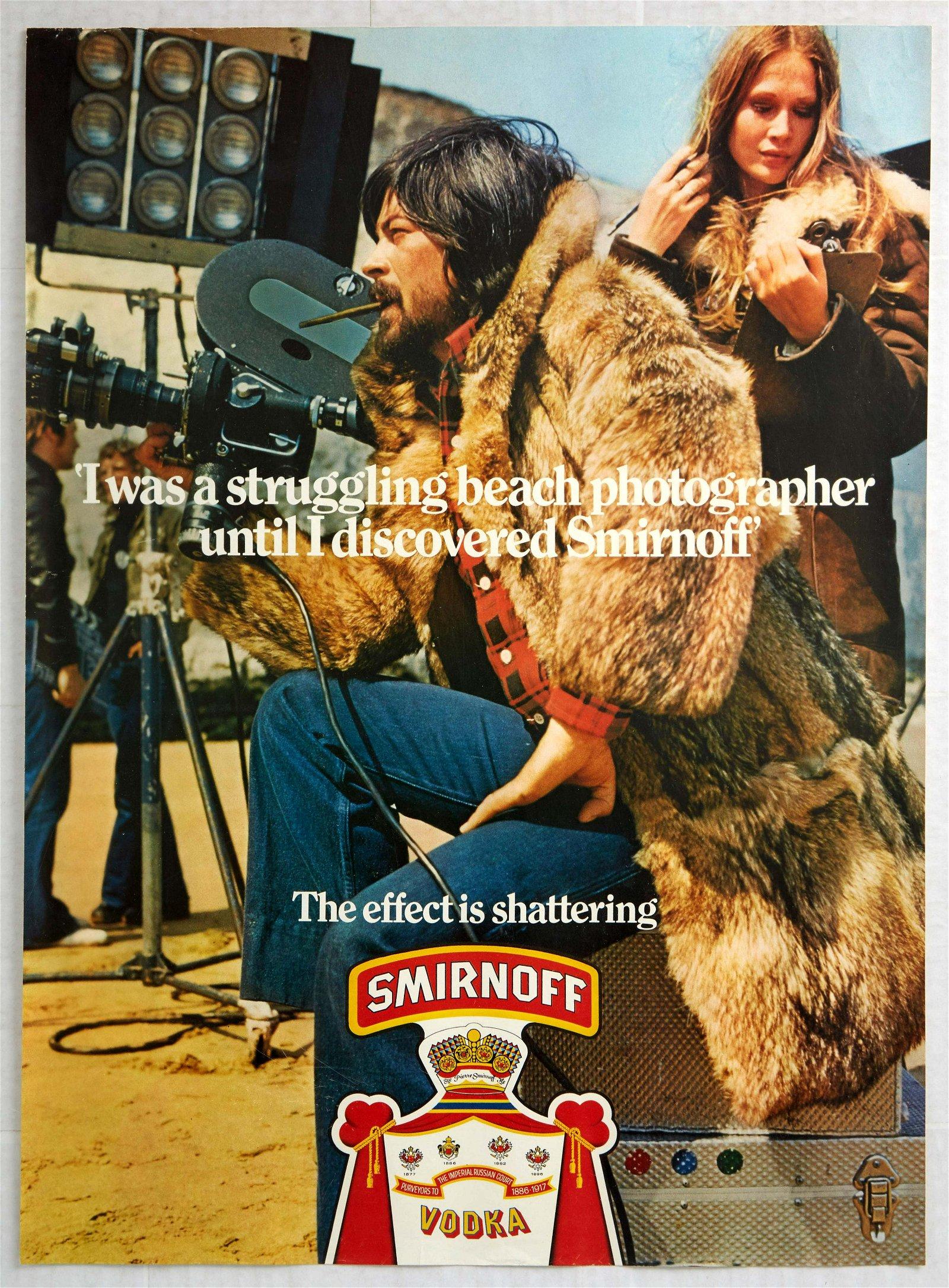 Original Advertising Poster Smirnoff Vodka Beach