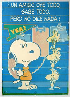Original Advertising Poster Snoopy Schulz A Friend