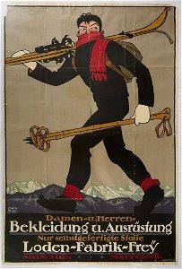 Original Sport Poster Ski Equipment Clothing Munich