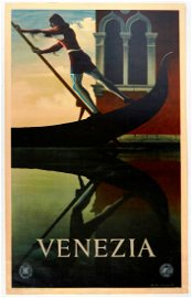 Original Travel  Poster Venice Venezia Italy ENIT
