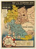 Original Propaganda Poster Atlanta Map Occupation Areas