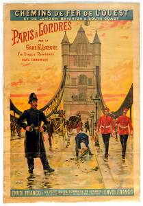 Travel Poster Railroads of the Paris to London