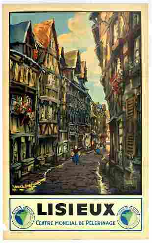 Travel Poster Lisieux Calvados Normandy French Railways