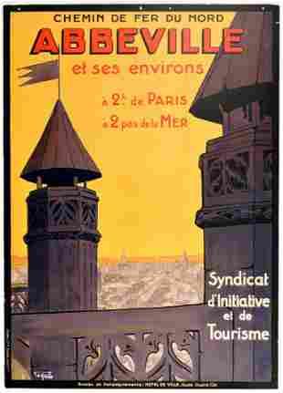 Travel Poster Abbeville Somme France