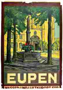 Travel Poster Eupen Belgium