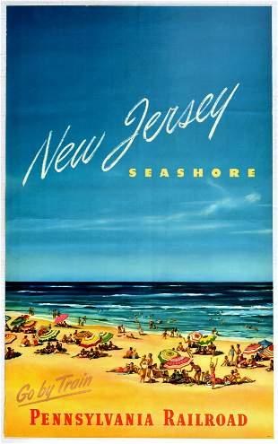Travel Poster New Jersey Seashore Pennsylvania Railroad