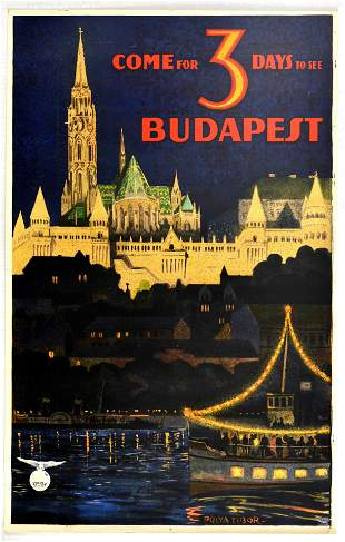 Travel Poster Come for 3 days to see Budapest