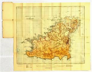 Travel Poster Guernsey Ordinance Survey Map