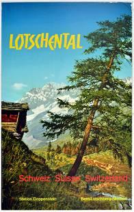 Travel Poster Lotschental Switzerland Travel