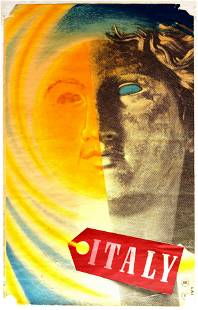 Travel Poster Italy ENIT Lali Italian Sculpture