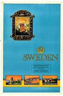 Travel Poster Sweden Holiday State Railways
