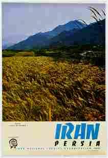 Travel Poster Iran Persia Shahrood Valley Asad