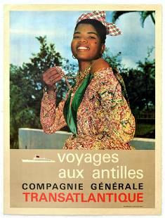 Travel Poster Voyages aus Antilles
