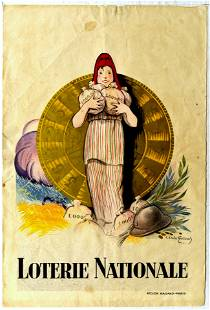 Advertising Poster Loterie National Fortune Wheel