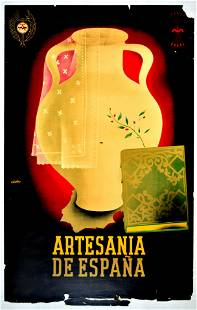 Advertising Poster Artesan Spain Franco Falange