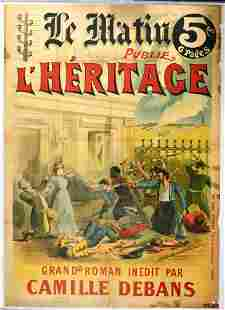 Advertising Poster Le Matin Book Publisher Heritage
