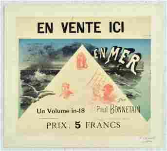 Advertising Poster En Mer Paul Bonnetain Jules Cheret