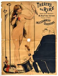 Advertising Poster Theatre Du Rire Striptease France