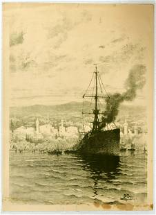 Advertising Poster Morocco Istanbul Ship Antoine