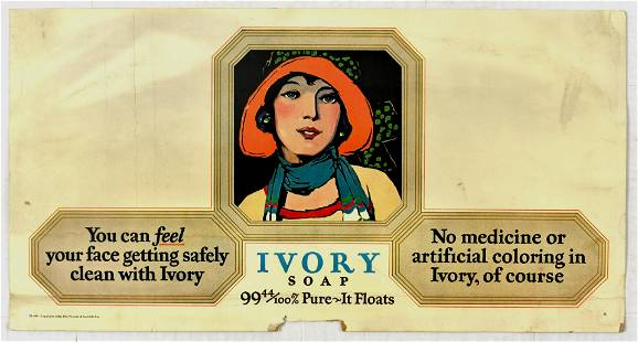 Advertising Poster Ivory Soap Art Deco Proctor and