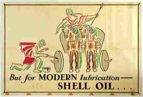 Advertising Poster Shell Oil Boadicea Chariot John