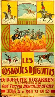 Advertising Poster The Djiguite Cossacks Show
