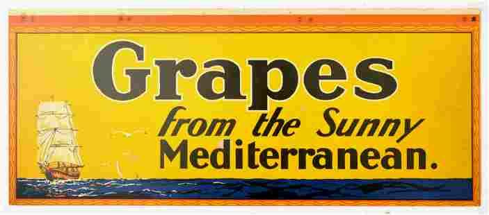 Advertising Poster Sunny Mediterranean Grapes