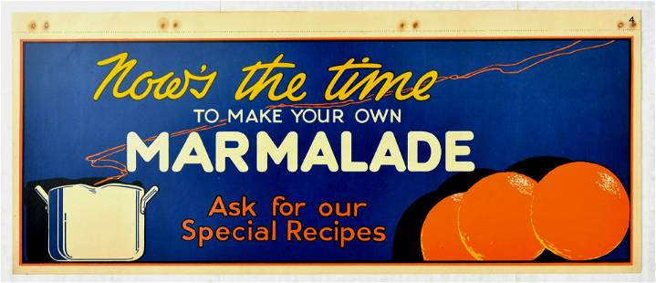 Advertising Poster Time To make Marmalade Oranges Home