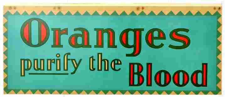 Advertising Poster Oranges Purify the Blood Art Deco