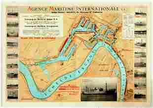 Advertising Poster Antwerpen Port Map International