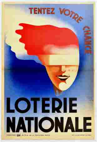Advertising Poster Loterie Nationale National Lottery