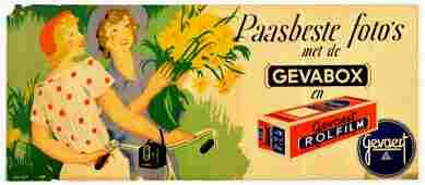 Advertising Poster Gevaert Gevabox Photo Film
