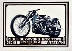 Rock Concert Poster The Soul Survivors Box Tops