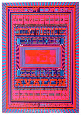 Rock Concert Poster Youngbloods Mount Rushmore Phoenix