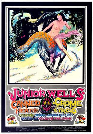 Rock Concert Poster Junior Wells Canned Crome