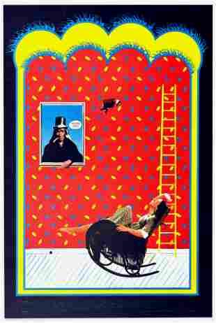 Rock Concert Poster Genesis Bill Graham Schwall Band