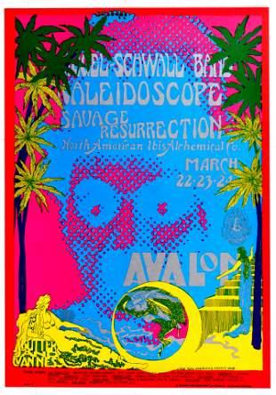 Rock Concert Poster Siegel Schwall Band Kaleidoscope