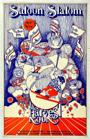 Rock Concert Poster Saloon Slalom Harvest Moon Squaw