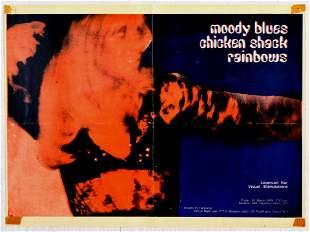 Advertising Poster Moody Blues Chicken Shack Rainbows