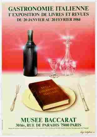 Advertising Poster Italian Food Wine Gastronomy Museum