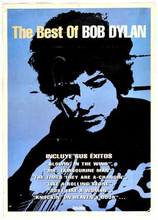 Advertising Poster Best of Bob Dylan Record Sony Music