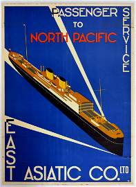 Travel Poster East Asiatic Passenger Service North