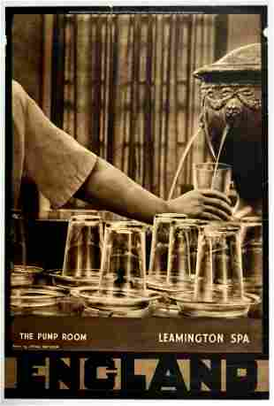 Travel Poster Leamington Spa England Pump Room