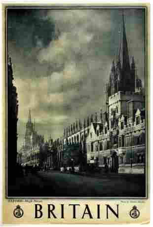 Travel Poster Britain Oxford High Street