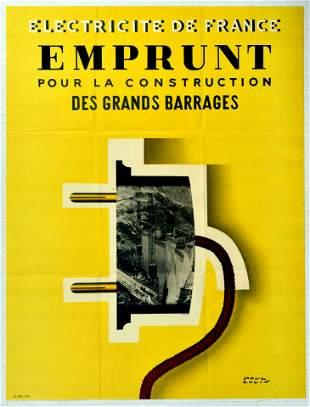 Propaganda Poster Electricite De France Paul Colin