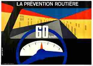 Propaganda Poster Car Road Safety Speed Limit