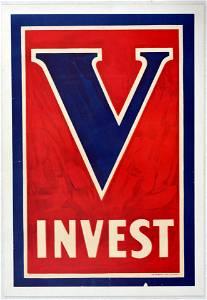 War Poster WWI V Invest Victory USA