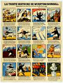 War Poster Winston Churchill WWII Vichy France