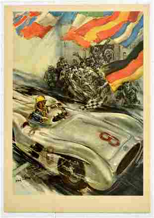 Sport Poster Mercedes Benz 300SLR Formula One Grand