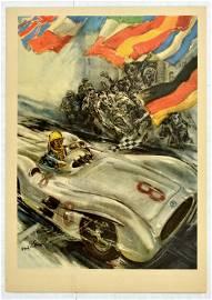 Sport Poster Mercedes Benz 300SLR Formula One Grand